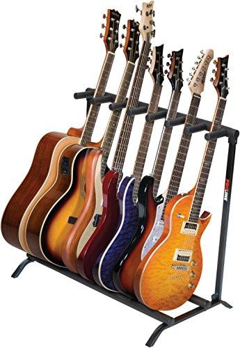Proline PLMS7 7-Guitar Folding Stand Black by PROLINE (Image #1)'