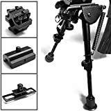 AUKMONT Extreme Precision Hunting Shooting Air Rifle Gun Sniper Bipod 6″ – 9″ with Adapter Anodized Matte Finish