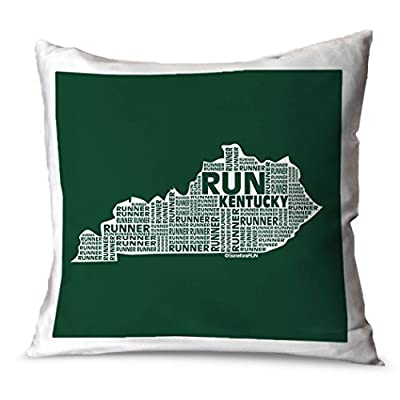 Gone For a Run Running Throw Pillow Kentucky State Runner