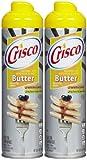 Crisco No-Stick Butter Cooking Spray, 6 oz, 2 pk