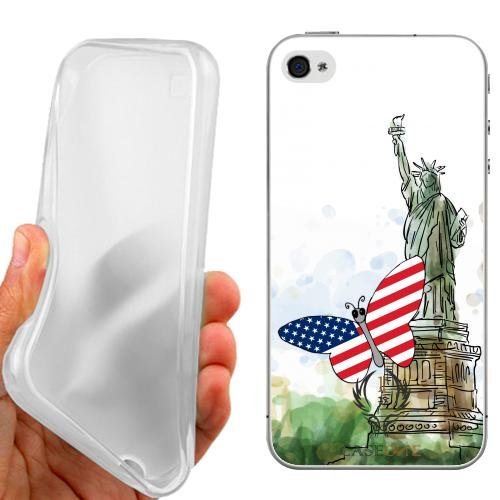 CUSTODIA COVER CASE CASEONE BUTTERFLY USA PER IPHONE 5C