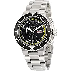 Oris Men's 'Aquis' Swiss Automatic Stainless Steel Dress Watch, Color:Silver-Toned (Model: 77477084154MB)