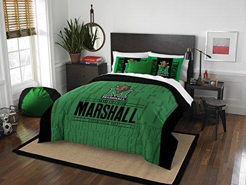 NCAA Marshall Thundering Herd Modern Take Full/Queen Comforter and 2 Sham Set (Marshall Queen)