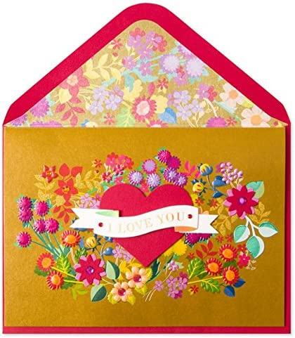 Valentine/'s Day greeting card Wings Heart Key New in packaging Papyrus