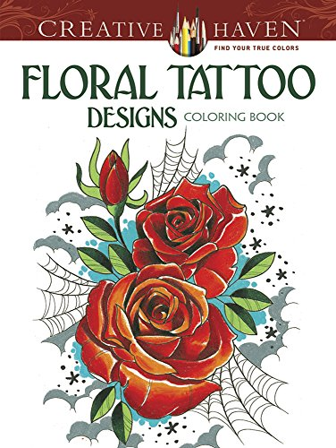 Creative Haven Floral Tattoo Designs Coloring Book (Adult Coloring) (Tattoo Skull Pic compare prices)