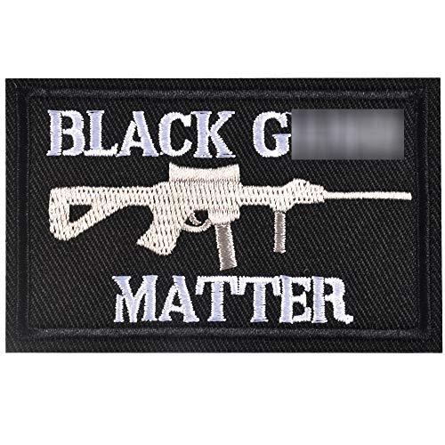 SHELCUP Black Guns Matter - 2x3 Decorative Morale Patch (Multicam with Spice), Black