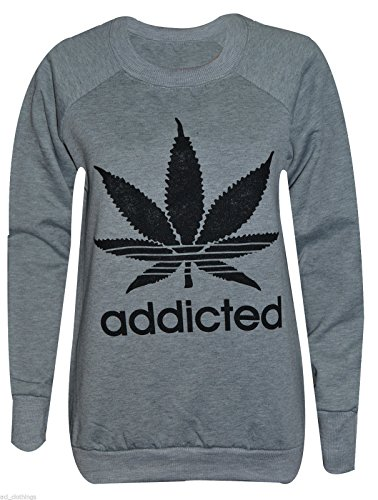Trendy.clothing - Sudadera - para mujer ADDICTED GREY