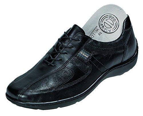 Foresta Runner Henni 496000–001–Comode Scarpe/inserto sfuso scarpe da donna comoda High Heels, colore: nero, pelle (Memphis Glitter), absatzhöhe: 15mm, nero (nero), 37 EU