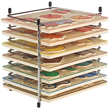 Constructive Playthings Wire Puzzle Rack for Half-Size Puzzles