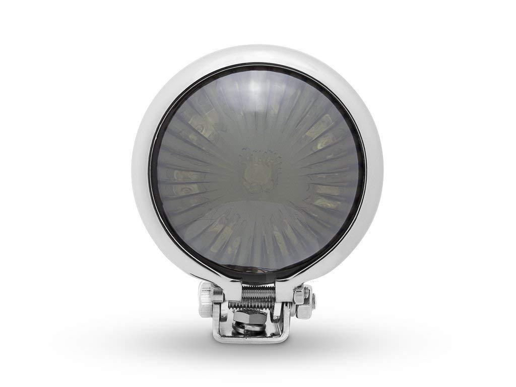 Luz Trasera para Vintage Retro Custom Project Cromo LED Moto Trasero Stop Freno