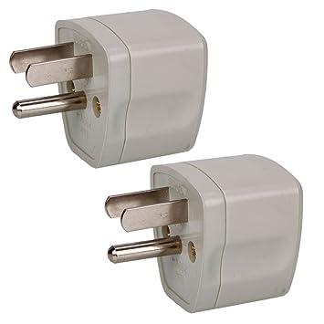 Amazon.com: Yooway 2 Pcs 3-pin Plug 10A 250V Universal EU AU to US ...