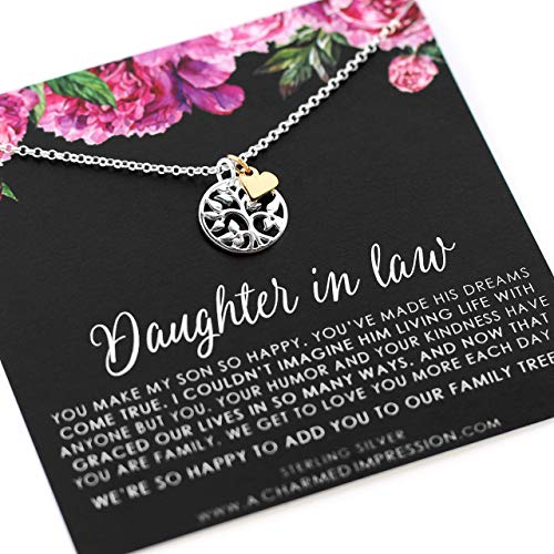Best Daughter in Law Gift • Welcome to our Family Tree • Sterling Silver • Personalized Jewelry