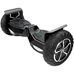 SWAGTRON T6 Off-Road Hoverboard – First in the World to Handle Over 250 LBS, Black