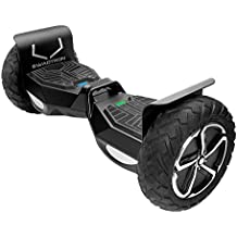 """Swagtron T6 Off-Road Hoverboard - First in the World to Handle Over 380 LBS, Up to 12 MPH, UL2272 Certified, 10"""" Wheel (Black)"""