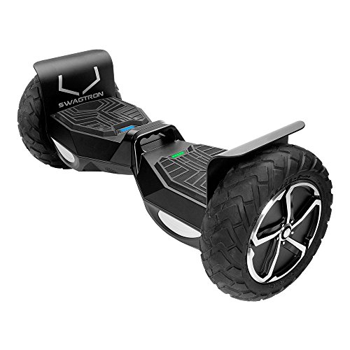 SWAGTRON T6 Off-Road Hoverboard - First in the World to Handle Over 380 LBS, Up to 12 MPH, UL2272 Certified, 10'' Wheel (Black) by Swagtron