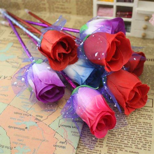 4pcs Cute Rose Creative school supplies ballpoint pen Office little gift pen