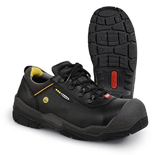 Jalas - Calzado de protección de cuero para hombre black/grey/yellow