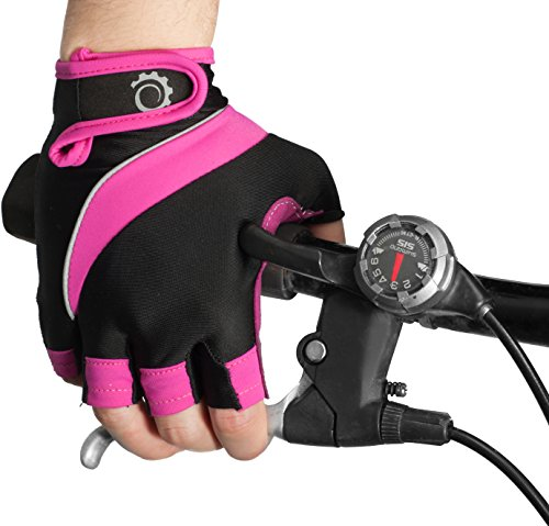 Cycle Gloves - Half Finger Light Pad Gloves For Riding Weightlifting Cycling And...