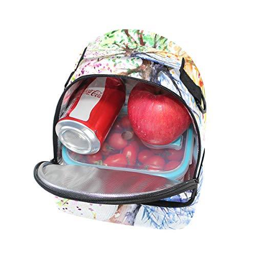 térmica Bolsa con el para para el de escuela pincnic FOLPPLY ajustable hombro correa térmica para almuerzo la q5xv7Ydz