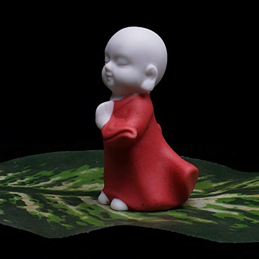 Amazon.com: Viet JK Buddha Statues - De cerámica estatuas de Buda pequeño monje Brillante colorido decoración mascota té figuras el budismo Chino Regalo 1 ...