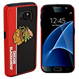 Forever Collectibles Dual Hybrid BOLD Series Case for Samsung Galaxy S7 - NHL Chicago Blackhawks