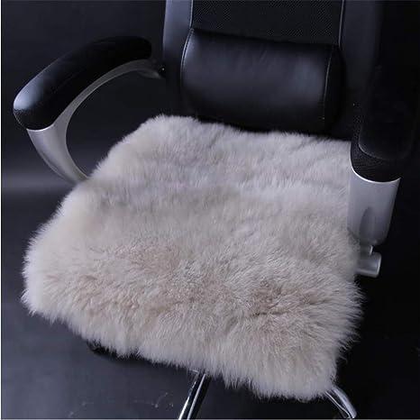Amazon.com: Cojín de lana natural para silla de comedor ...