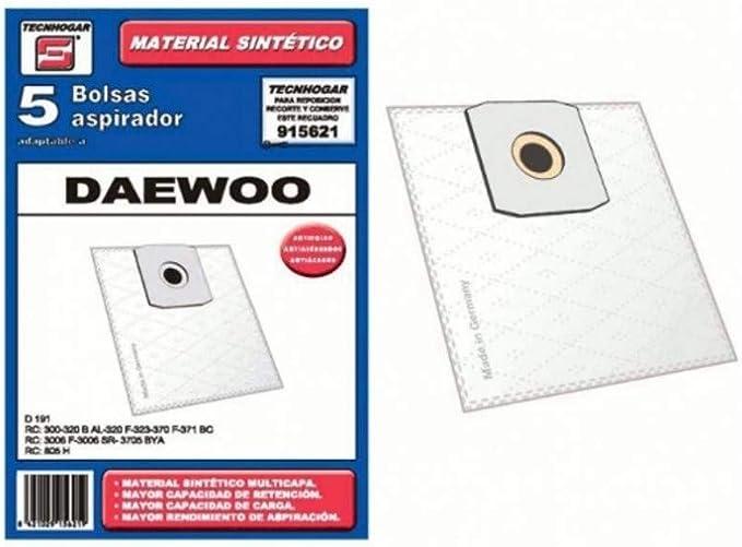 Recamania Bolsa Sintetica Aspirador Daewoo Laser 5 Unidades 915621: Amazon.es