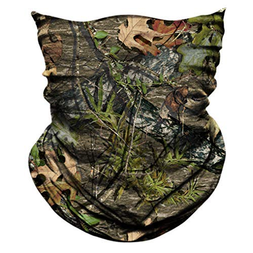 AXBXCX 2 Pack - Camouflage Camo Print Seamless Neck Gaiter Bandana Face Mask Headband Headwear Sweatband Wristband Scarf for Fishing Hiking Hunting Cycling Motorcycle Riding Skiing Outdoor Sport 051 ()