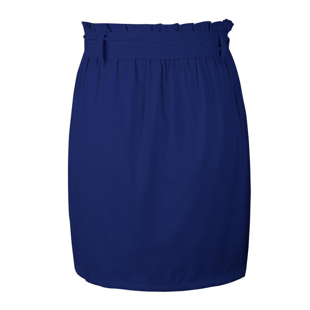 Spbamboo Clearance Sale! Womens Casaul Pocket Pure Color High Waist Summer Skirt by Spbamboo (Image #8)