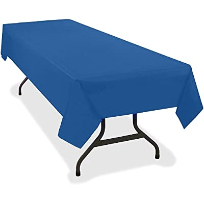 """Tablemate Plastic Rectangular Table Covers, 54"""" x 108"""", Blue, Pack of 6: Office Products"""