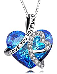 Sterling Silver I Love You Forever Heart Pendant Necklace...