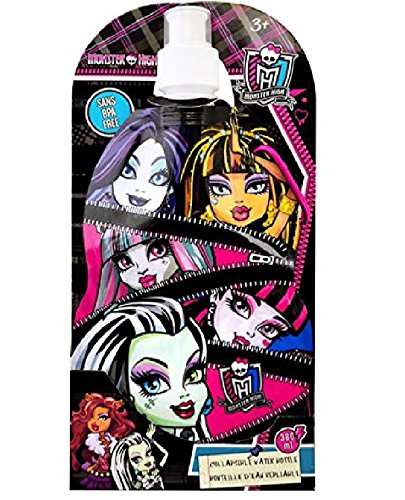 Price comparison product image Monster High Collapsible Water Bottle 380ml Sans BPA Free