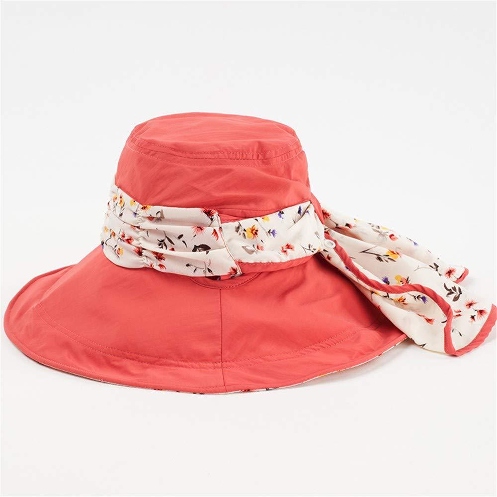 C Ladies Sun Hat Beach Hats,Hat Woman Summer Outdoor Sunscreen Folding face AntiUltrapurple Windproof Big Along Excursion Sun Fisherman hat