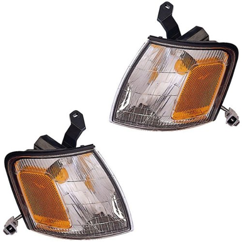 1998-1999 Toyota Avalon Park Corner Light Turn Signal Marker Lamp Set Pair Right Passenger And Left Driver Side (98 99)