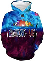 Airmorken Among US Impostor Boys Girls 3D Hoodies Graphic Print Hooded Pullover Sweatshirt with Kangaroo Pocke