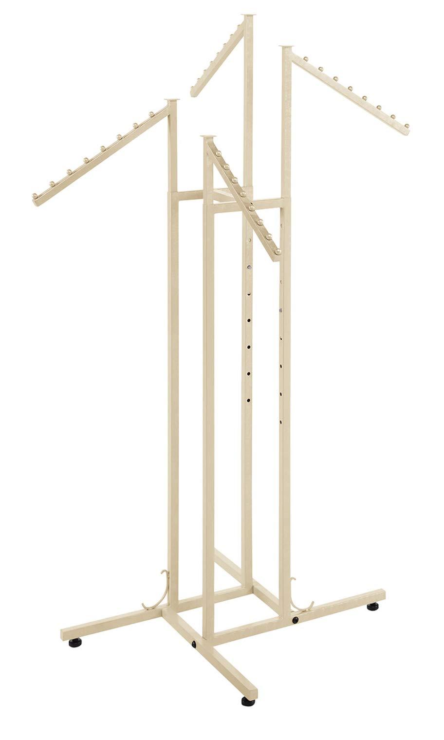 SSWBasics 4 Way Clothing Rack - Boutique Ivory - Slant Arms