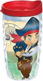 Tervis 1168815 Disney - Captain Jake Tumbler with Wrap and Red Lid 10oz Wavy, Clear