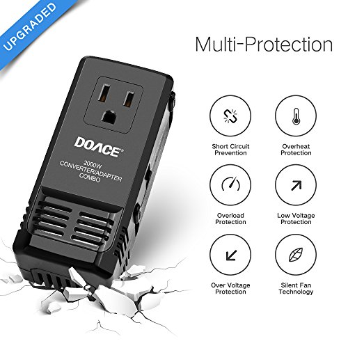 Doace C8 Mini Transformer 2000w Worldwide Travel Converter And