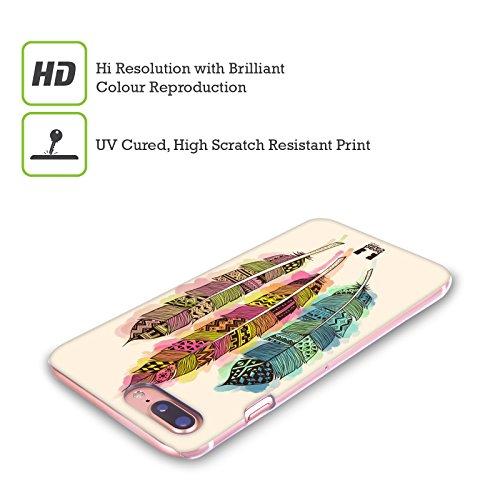 Head Case Designs Splash Di Colori Piume Azteche Cover Retro Rigida per Apple iPhone X Splash Di Colori
