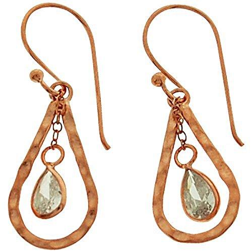 Sterling Silver Euro Hook Earrings (TOC Rose-goldtone Sterling Silver & Clear Rhinestone Tear Drop Earrings)