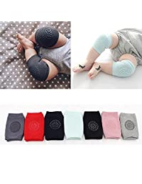 Flyou 7Pair Baby Crawling Knee Pads Anti-slip Kneepads for 9months - 2years