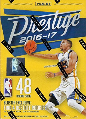 2016 2017 Prestige NBA Basketball Series Unopened Blaster Box with FOUR EXCLUSIVE Acetate Rookie Cards Per Box -