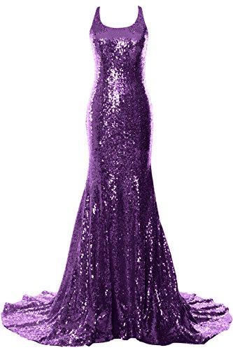 Formal Mermaid Gown Dress Long MACloth Open Women Violett Evening Prom Wedding Back w58v8RqW