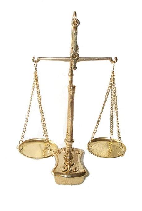 Triple-viga de equilibrio, Doble escala, Escamas doradas, Escala de nivel Latón