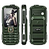 large display cell phones - Cectdigi T9900 Rugged 2G GSM Mobile Phone,Shockproof Military-Designed phone with Power Bank Charging Function,15800mA Large Battery,2.8inch Display,Dual SIM Cards,Flashlight Equipped (Green)