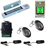 FPC-5006 Visionis One Door Access Control Outswinging Door 300lbs Electromagnetic Lock Kit with Wireless Receiver and Remote Kit