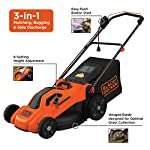 BLACK+DECKER Lawn Mower, Corded, 13 Amp, 20-Inch (BEMW213) 12 Push mower comes with 13 Amp motor to power through tall grass Electric mower can adjust height with 6 settings for precise cutting specifications Push lawn mower comes with easy Fold handle for convenient storage when not in use