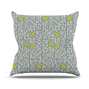 """Kess InHouse Allison Beilke """"Deco Orchids"""" Outdoor Throw Pillow, 20 by 20-Inch"""