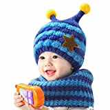 Changeshopping Cute Winter Baby Wool Hat Hooded Scarf Earflap Knit Cap Toddler