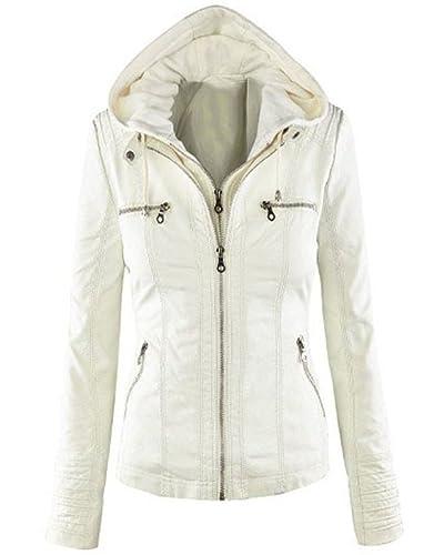 Mujer Short Chaqueta Cazadora Cremallera Jackets Slim Fit Coat